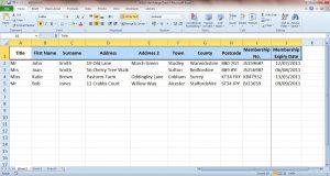 Merge Data Headings