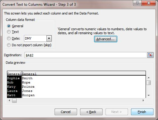 Text to Column Walkthrough