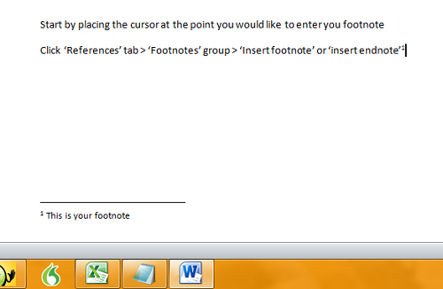 Do you have to use footnotes for everything?