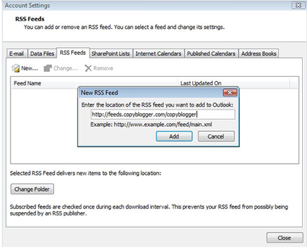 Setting up Outlook email - PMP