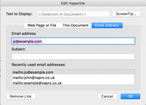 Mail Merge in Microsoft Word with Personalised Hyperlinks