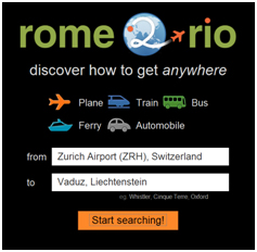 rome rio search box