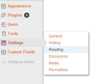 Wordpress Set Blog Page1