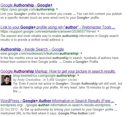 Rich snippets standout on page