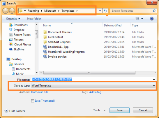 How to create reusable document templates in microsoft for Appdata roaming microsoft templates