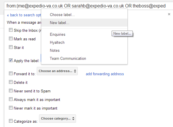 Gmail Filters (3)