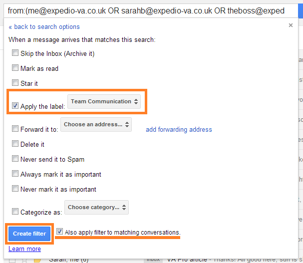 Gmail Filters (4)