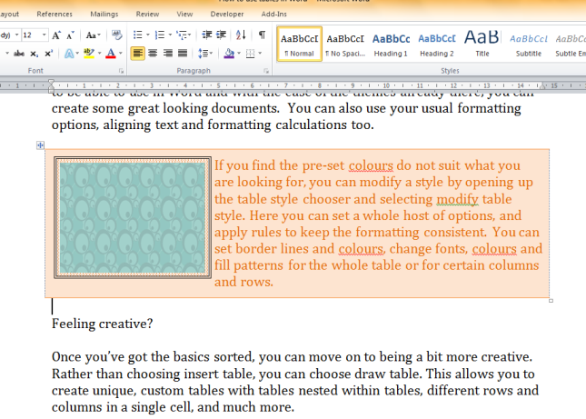 Tables in Word (11)