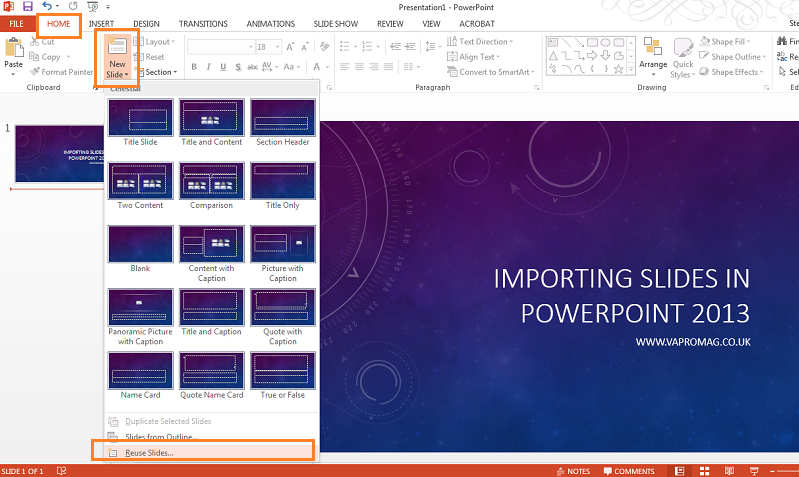 how to reuse old slides in a new powerpoint presentation va pro