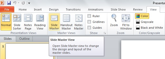 Using the slide master to create professional powerpoint templates ppt slide master 2 toneelgroepblik Choice Image