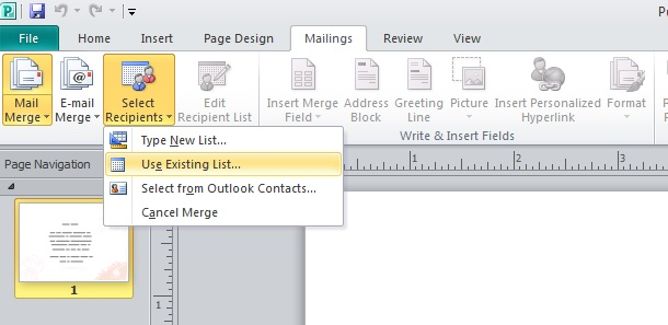 Use mail merge to create personalised invitations in Publisher | VA