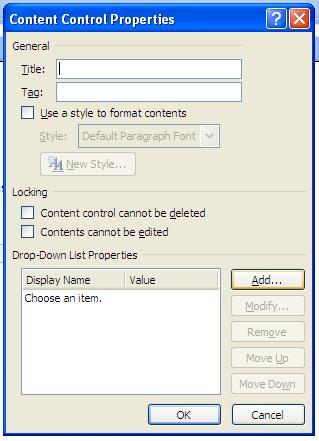 Editable Form Word 14