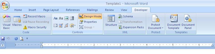 Editable Form Word 6