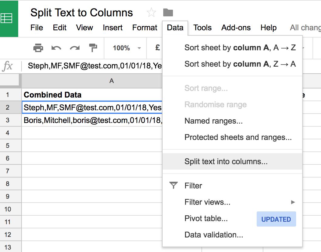 Two easy ways to split text in Google Sheets | VA Pro Magazine