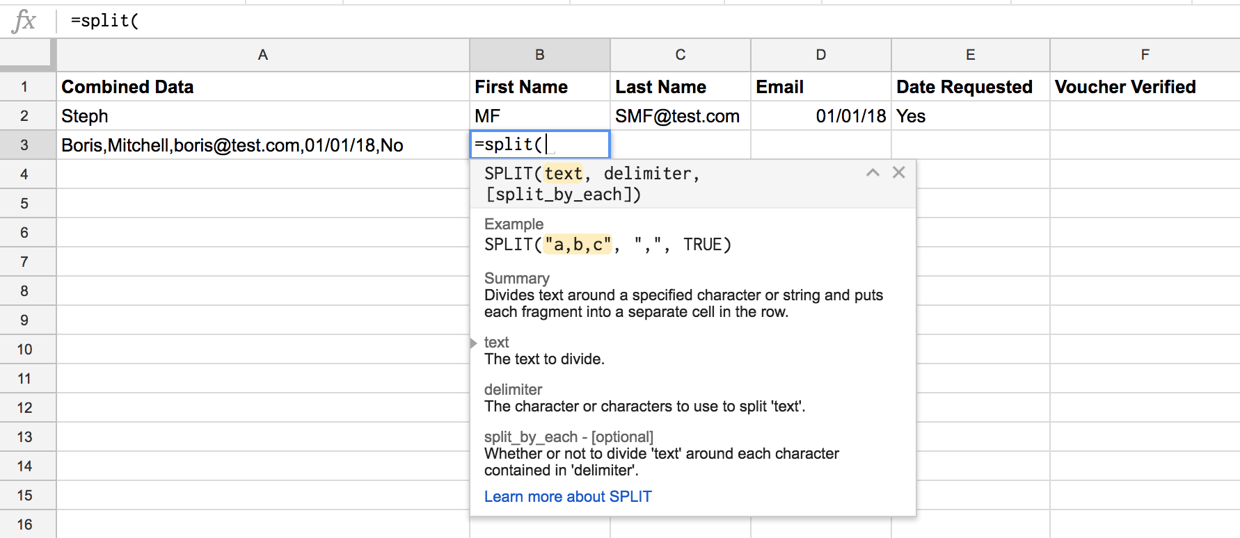 Two easy ways to split text in Google Sheets | VA Pro Magazine